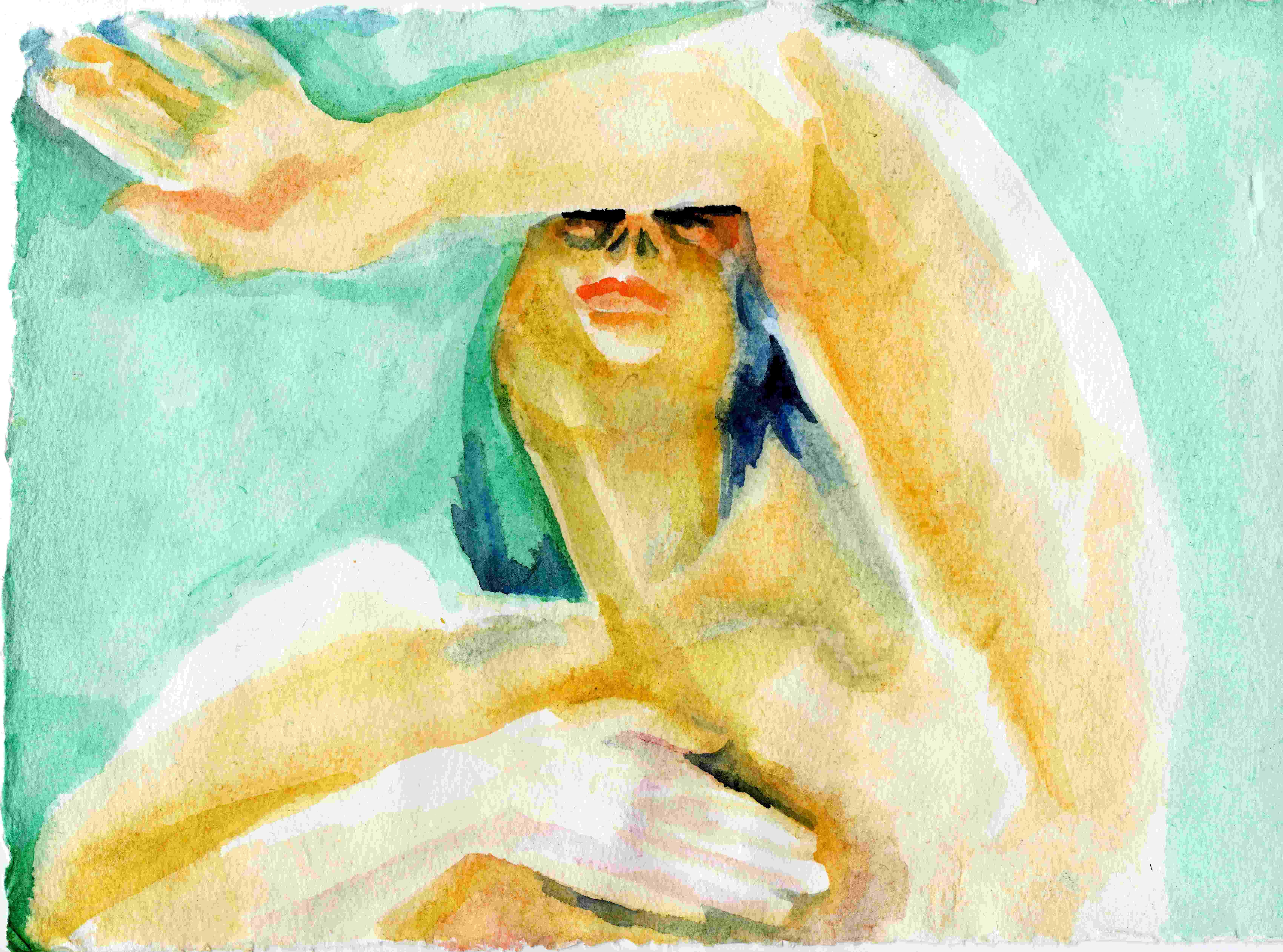 """""""komm her, geh weg"""", 2014, Auqarell auf Papier"""