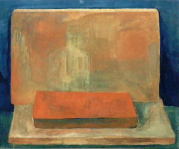 O.T., 1984, Eitempera auf Leinwand, 28x34 cm